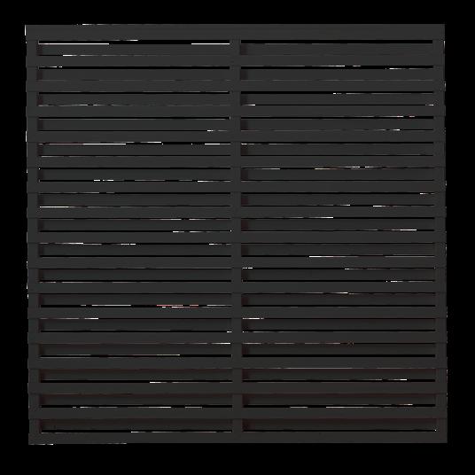Plus Osaka Zaun 180x180 cm - schwarz behandelt