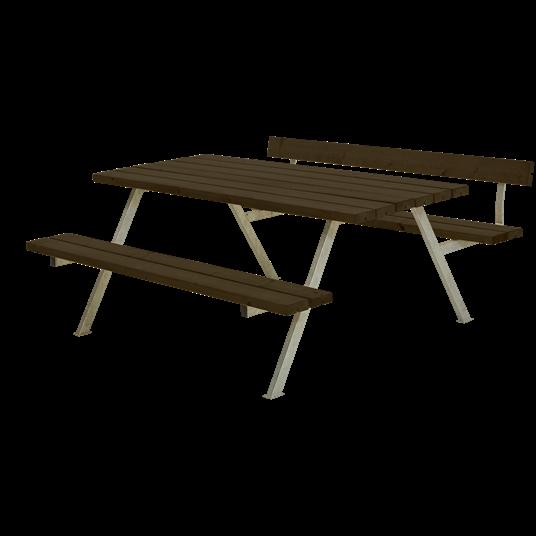 Plus Alpha Sitzgruppe m/1 Rückenlehne 177x173x73/45 cm - Farblich behandelt schwarz