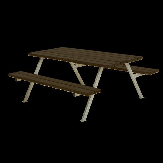 Plus Alpha Sitzgruppe 177x161x73/45 cm - Farblich behandelt schwarz