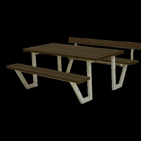 Plus Wega Sitzgruppe m/1 Rückenlehne 177x173x73/45 cm. Farblich behandelt schwarz