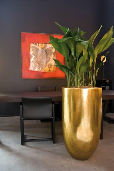 PANDORA Pflanzgefäß big - gold leaf