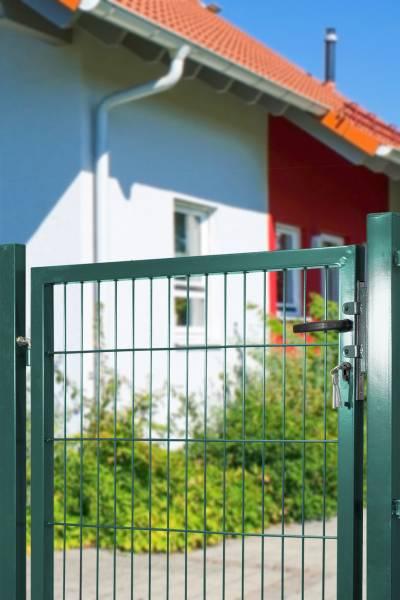 Gartentor für Stabmatte grün (RAL 6005) einflügelig