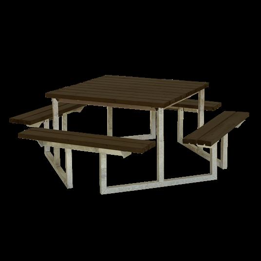 Plus Twist Sitzgruppe 204x204x73/45 cm. Farblich behandelt schwarz