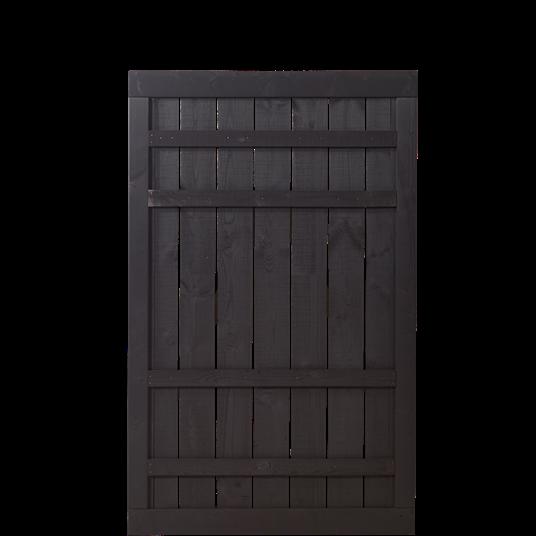 Plus Rustik Einzeltor 100x158cm - Schwarz