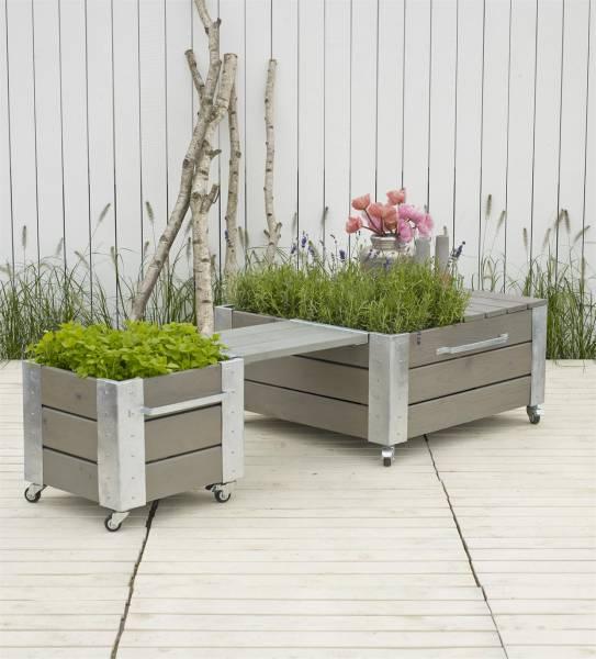 CUBIC Sitzplatz mit Blumenkästen und Bank 193x46x45 cm