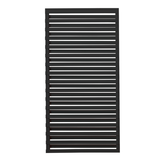 Plus Osaka Zaun 90x180 cm - schwarz behandelt