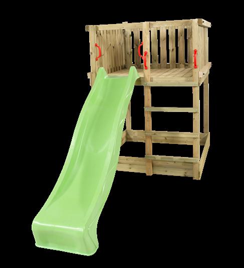 Plus Play Spielturm einschl. grüner Rutsche