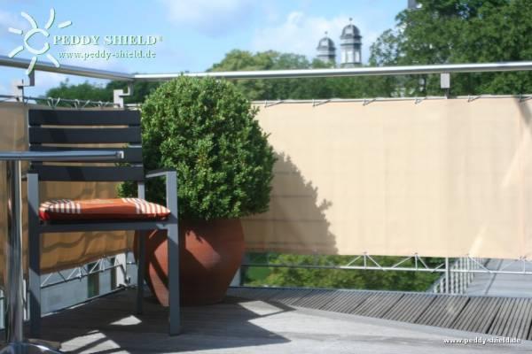 Balkonumrandung 90 x 300 cm - Farbe sisal