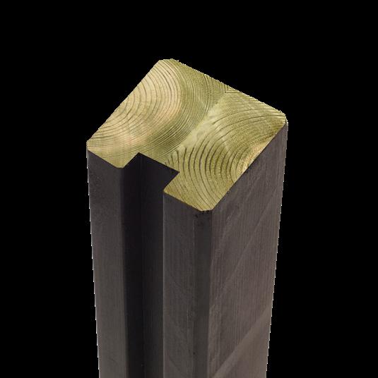 Plus Leimholz Profil-Pfosten t/afslutning m/1 Nuten 90x90mm x267cm