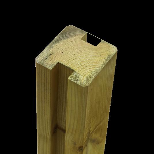 Plus Profil-Pfosten 2-Nuten 90x90mm x267cm