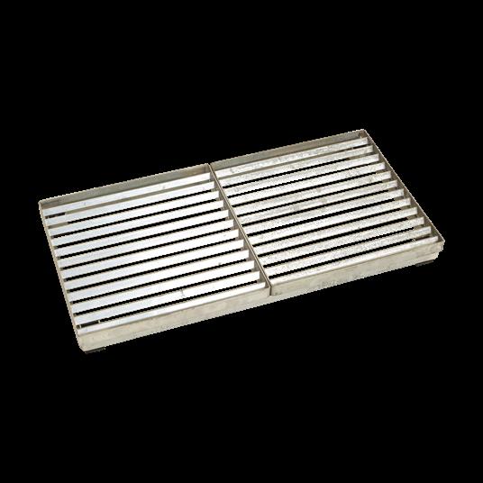 Plus Cubic Rost m/Stahlrahmen m/Höhenverstellung 40x80x6,8 cm.