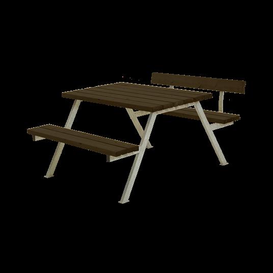 Plus Alpha Sitzgruppe m/1 Rückenlehne 118x173x73/45 cm - Farblich behandelt schwarz