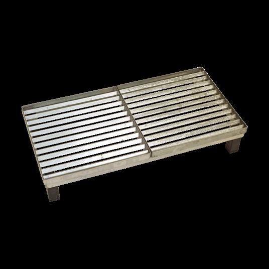 Plus Cubic Rost m/Stahlrahmen m/Höhenverstellung 40x80x14,8 cm.