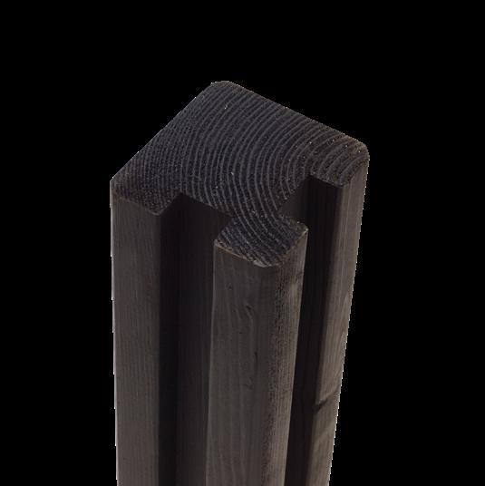 PLUS Profil-Pfosten t/hjørne m/2 Nuten 90x90mm x267cm