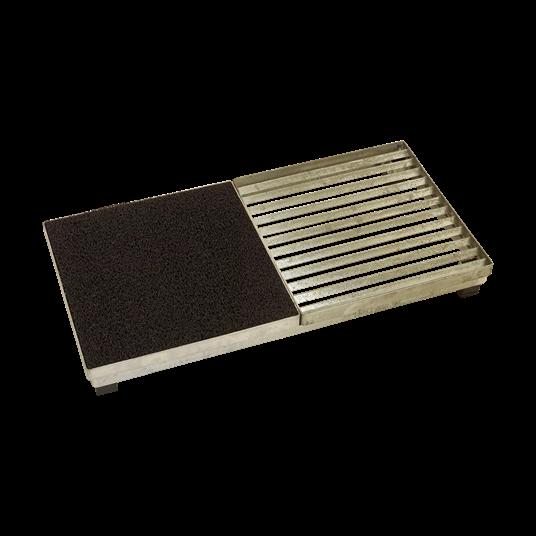 Plus Cubic Rost inkl. Matte m/Stahlrahmen m/Höhenverstellung 40x80x9,3 cm.