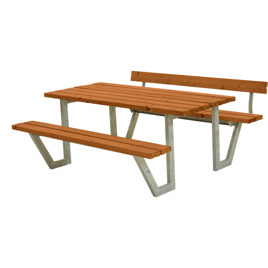 Plus Wega Sitzgruppe m/1 Rückenlehne 177x173x73/45 cm. Farblich behandelt teak