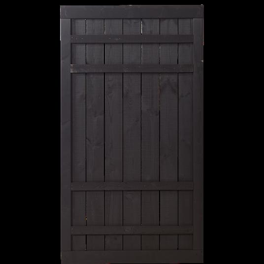 Plus Rustik Einzeltor 100x180cm - Schwarz