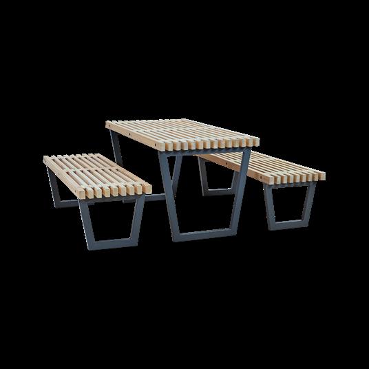 Plus Siesta Garnitur - Tisch mit 2 Bänke - 138 cm