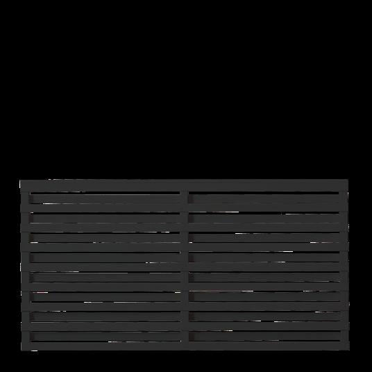 Plus Osaka Zaun 180x93 cm - schwarz behandelt