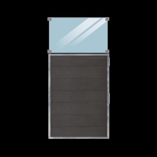 Plus Futura Zaun m/Glas 90x180cm