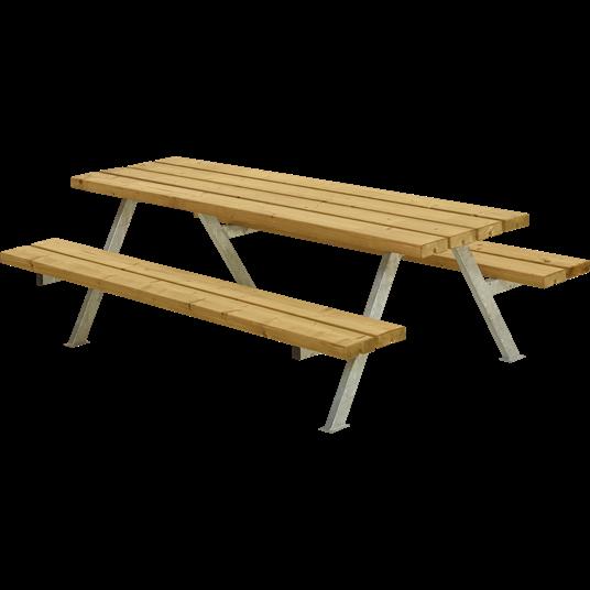 Plus Alpha Junior Sitzgruppe 177x118x57/32,5 cm. unbehandelte Lärche