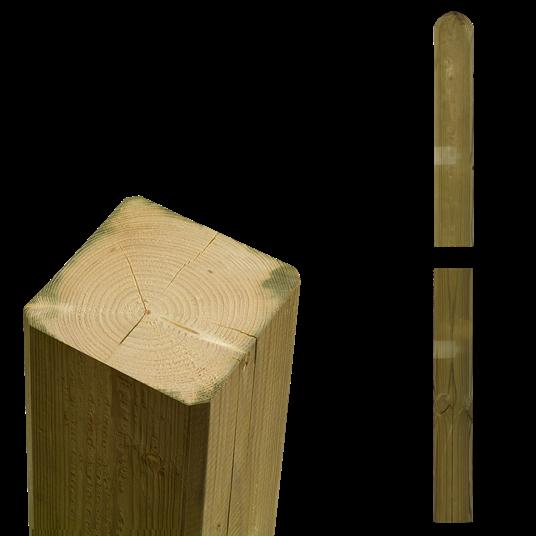 Plus Multi Vollholzpfosten Kopf gerundet 68x68mm x148cm
