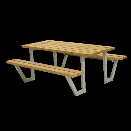 Plus Wega Sitzgruppe 177x161x73/45 cm. Unbehandelte Lärche