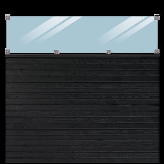 Plus Plank Profil-Zaun inkl. glas 174x163cm