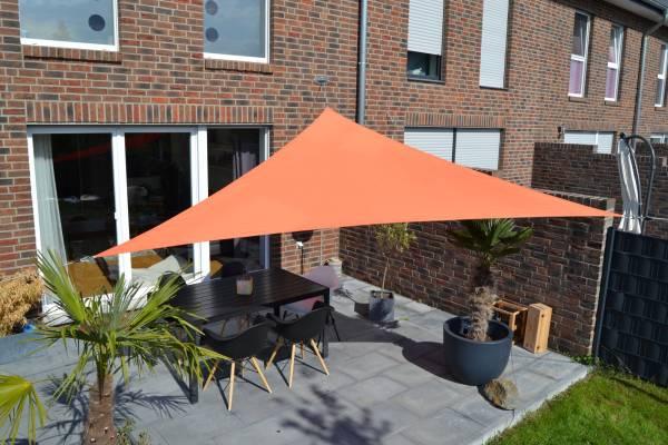 Dreiecksonnensegel 360 cm - Polyester - Farbe terracotta