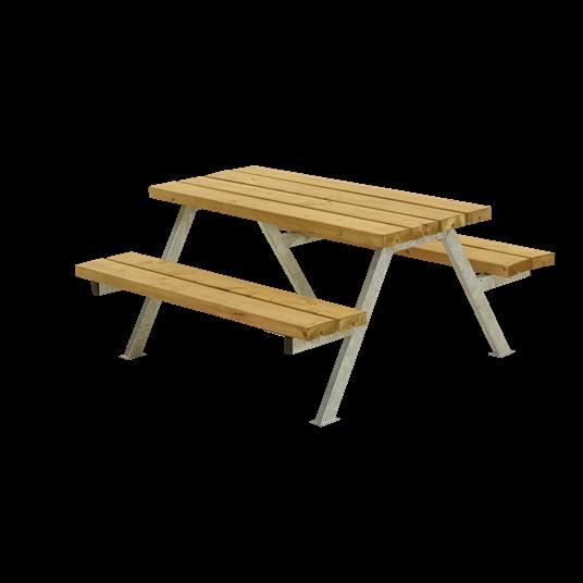 Plus Alpha Junior Sitzgruppe 118x118x57/32,5 cm. Unbehandelte Lärche