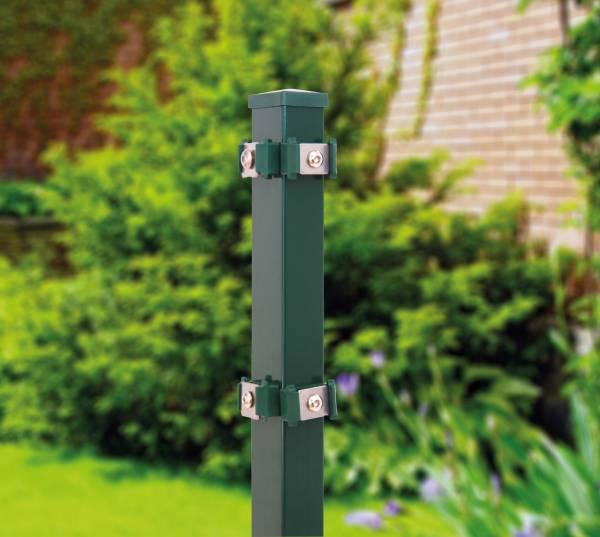 Eckpfosten für Stab- u. Doppelstabmatte grün (RAL 6005)