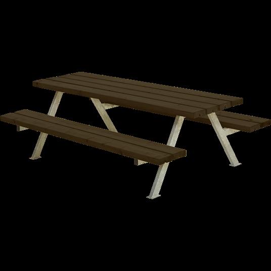 Plus Alpha Junior Sitzgruppe 177x118x57/32,5 cm. Farblich behandelt schwarz
