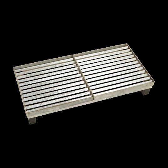 Plus Cubic Rost m/Stahlrahmen m/Höhenverstellung 40x80x12,3 cm.