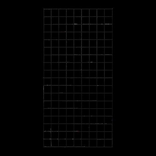 Plus Stahlspalier - 90×180 cm, mit Kanten