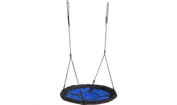 Plus Netzschaukel Rund Ø98 cm schwarz/blau