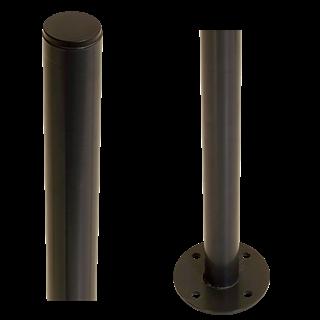 Plus Stahlpfosten rund Ø42,4mm x186cm Pulverlakiert 7021 Grauschwarz