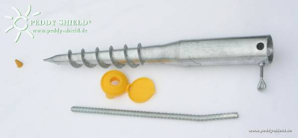 Schraub-Erdanker für Aluminium-Teleskopmast