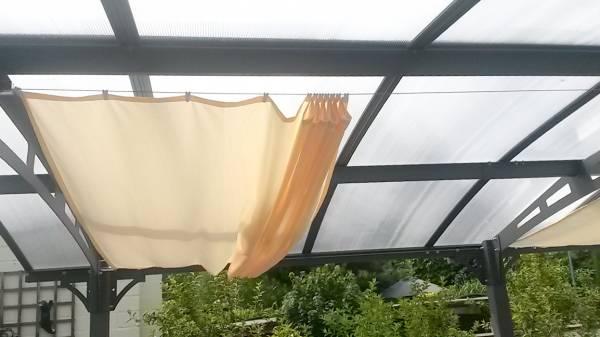 Sonnensegel 330 x 200 cm - Farbe hell elfenbein