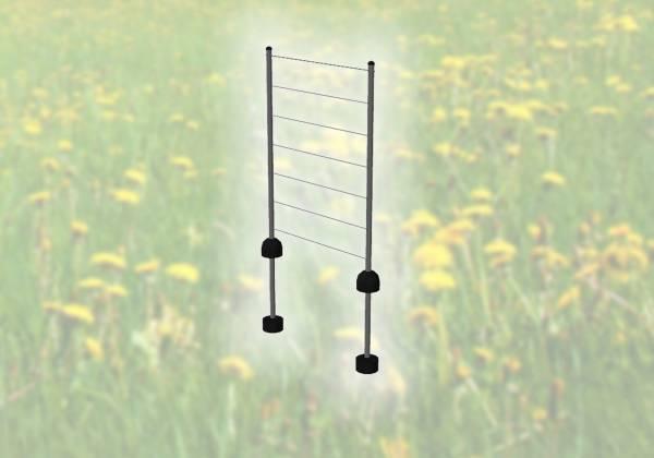 PIPE Spaliersatz mit 2 Stäben und Seil