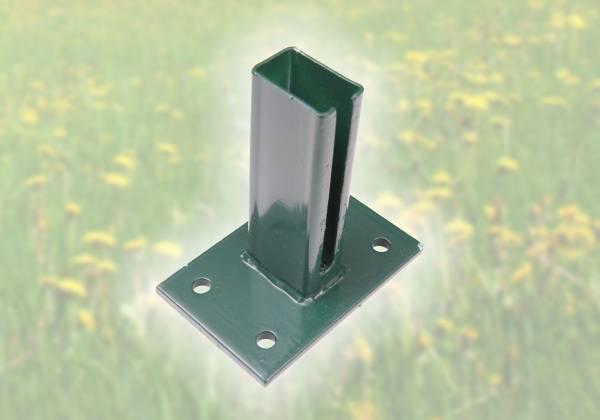 Standfuß für Vierkantpfosten 60 x 40 mm