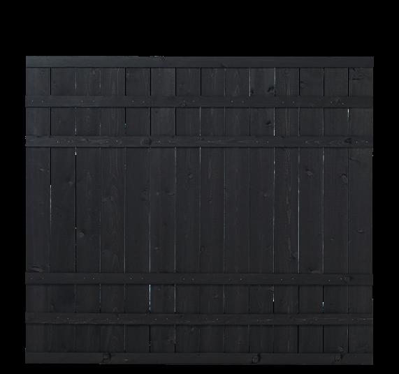 Plus Rustik Zaun 180x158cm - Schwarz