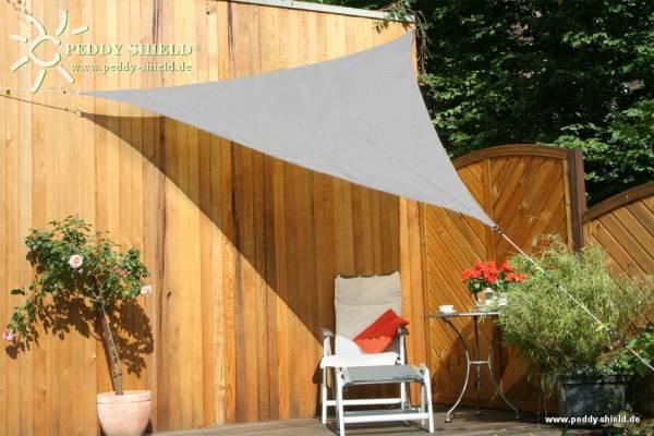 Dreiecksonnensegel 300 cm - HDPE - Farbe silbergrau