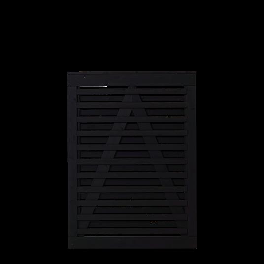 Plus Osaka Einzeltor 100x136 cm - schwarz grundiert
