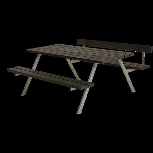 Plus Alpha Sitzgruppe m/1 Rückenlehne 177x173x73/45 cm. recycelter Kunststoff schwarz