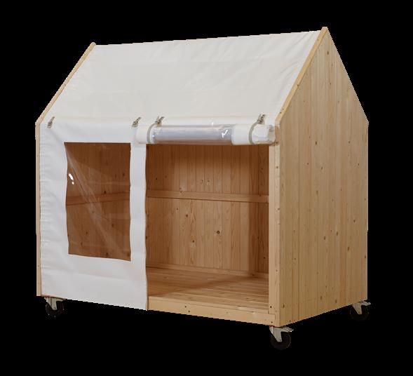 Plus Spielhaus/Shelter mit Räder