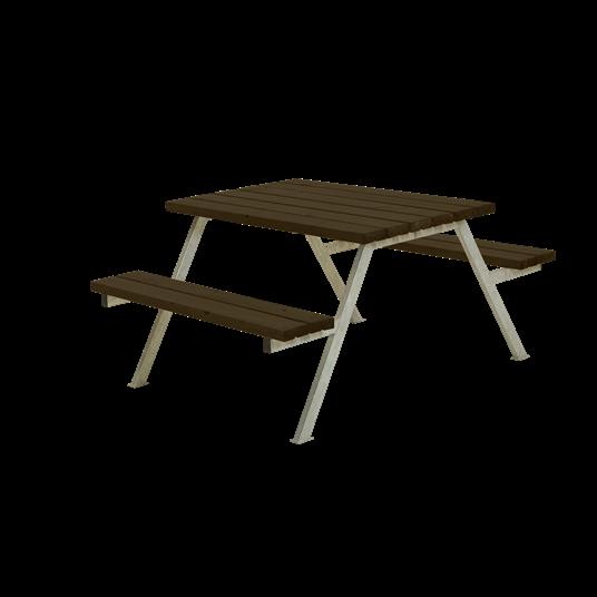 Plus Alpha Sitzgruppe 118x161x73/45 cm - Farblich behandelt schwarz
