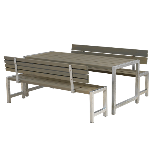 Plus Plankensatz m/Tisch + 2 Bänke + 2 Lehnen
