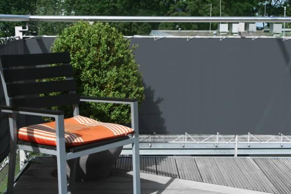 Balkonumrandung 75 x 500 cm - Farbe anthrazit