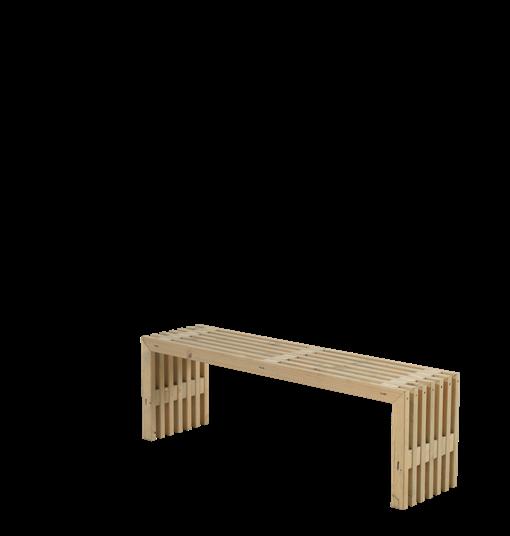Plus Rustik Lattenbank Design 138x36x45cm - farbgrundiert Treibholz
