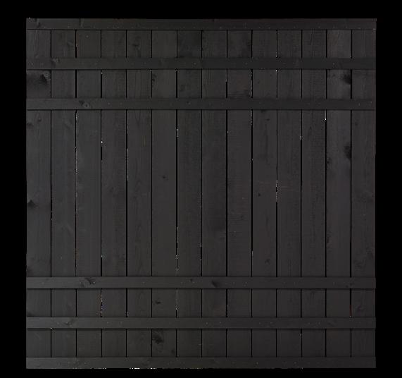 Plus Rustik Zaun 180x180cm - Schwarz